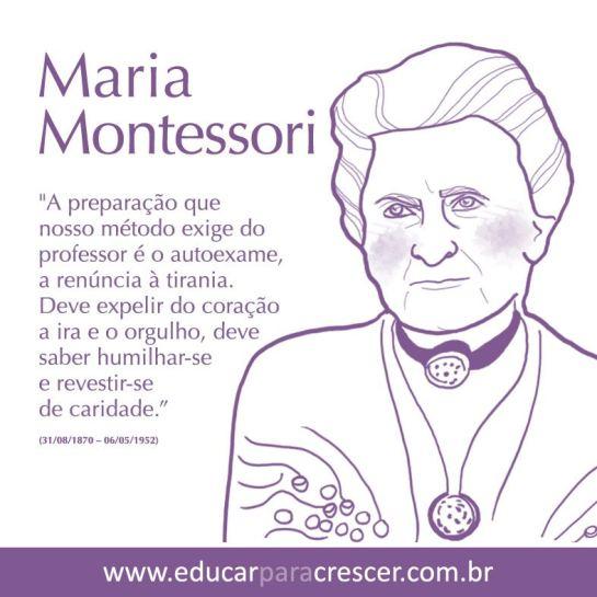 MARIA MONTESSORI NASCEU EM 31 AGOSTO 1870.